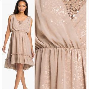Jessica Simpson Surplice Sequin Dress